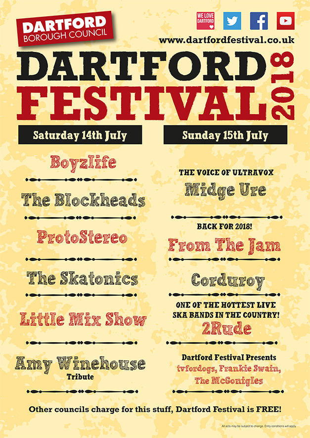 Dartford Festival July 15th